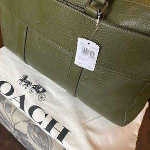 Coach purse green with straps ...Authentic